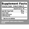 apple cider vinegar supplement facts