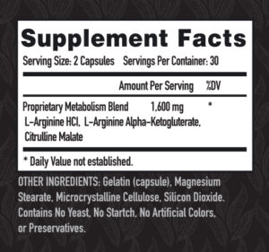 nitric oxide supplement facts